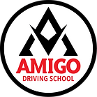 Amigo Driving School New Logo WHITE 2019