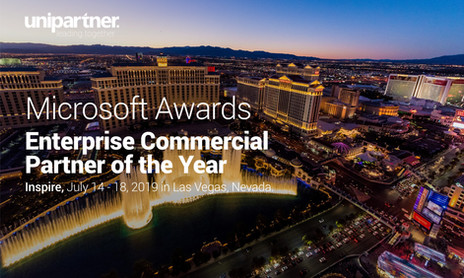 "Unipartner was awarded ""Enterprise Commercial Partner of the Year"" by Microsoft"