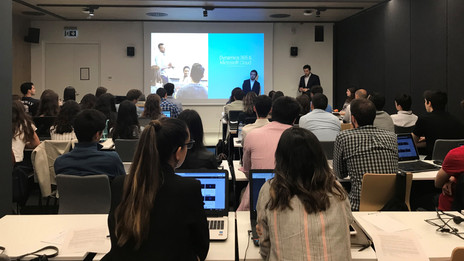 Dynamics 365 Summer Session featured 50 university students at the new Microsoft facilities