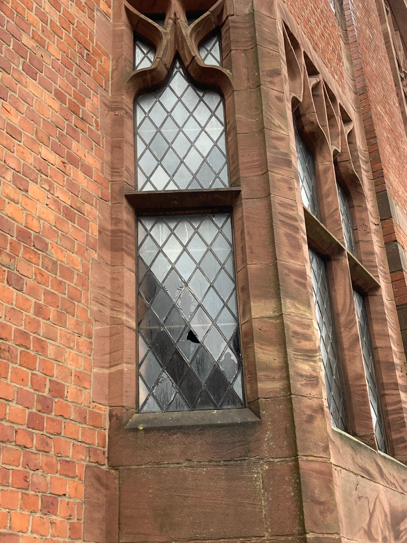 Damaged window