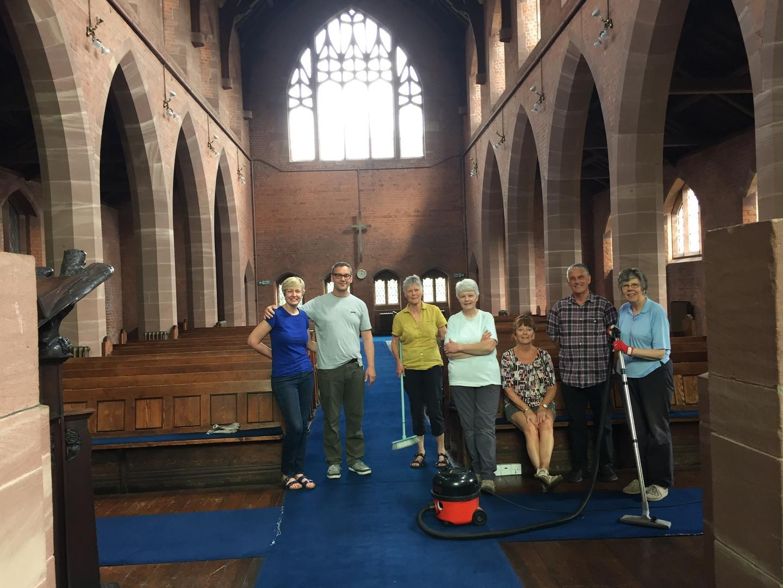 Volunteers in the church