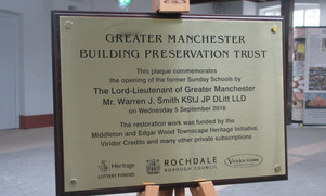 Unveiling of the Opening Plaque
