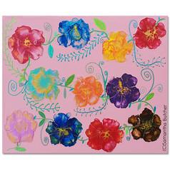 """Folk Art Flowers"" © Samantha Butcher"