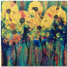 """Sunflowers in Gold"" © Samantha Butcher"