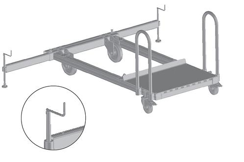 Обязательный модуль для лестниц для цистерн - ходовой механизм(подвиж. траверса)