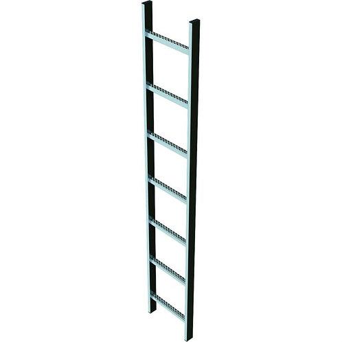 Шахтная лестница, нержавеющая сталь, 2,8м (300мм)