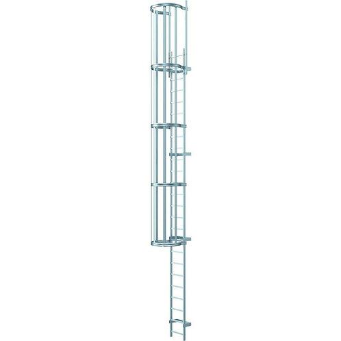 Односекционные настенные лестницы (необработанный алюминий) 5,60 м