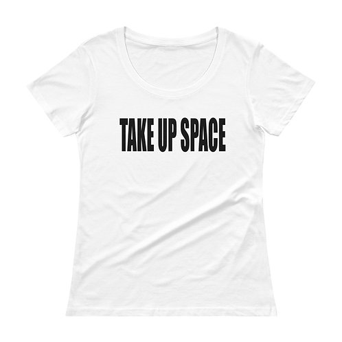 TAKE UP SPACE classic tee - white