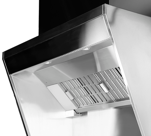 cyclonic grease separators and filtration system with ozone treatment technology keep the exhaust chamber grease free. LED lights for kitchen wellbeing