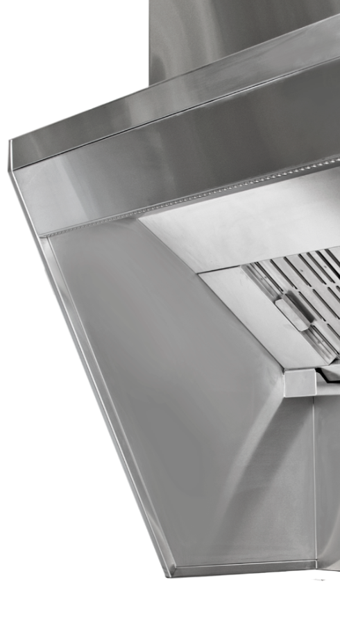 Backshelf canopy is a energyficient grease hood for commercial kitchen ventilation.
