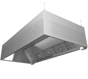 HR kitchen grease hood is a standard commercial kitchen canopy