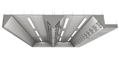 Ventilated ceiling is a modular solution for commercial kitchen ventilation