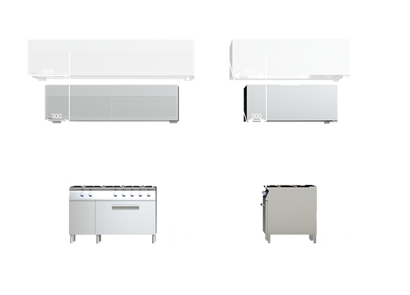 Correct sizing and selecting the commercial kitchen hoods. Canopy height and with relations