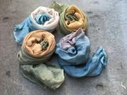 botanically dyed silk chiffon scarves