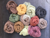 naturally dyed silk scarves