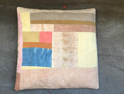 quilted patchwork cushion