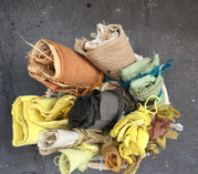 naturally dyed fabric samples