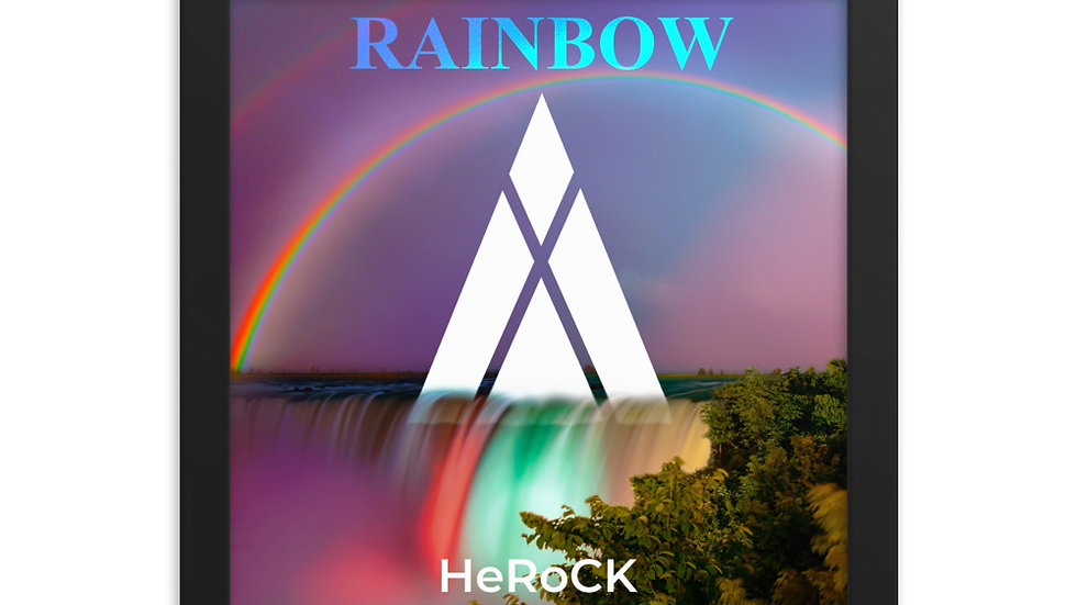 HeRoCK - Rainbow Framed Poster