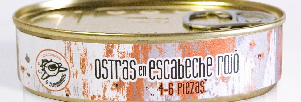 Caja expositora Ostras 3 variedades (lata oval)