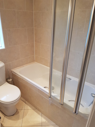 Bath to shower BEFORE retrofit