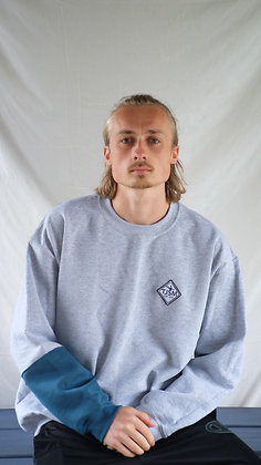 Classic Logo Grey/Blue Sweatshirt