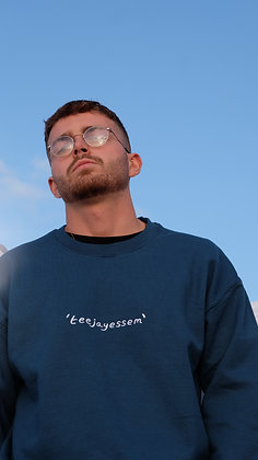 'TEEJAYESSEM' Blue Sweater