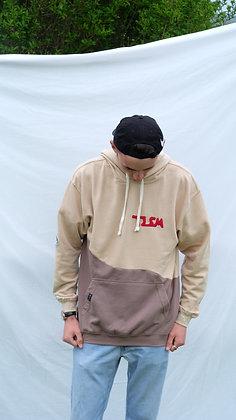Brown /Cream Logo Cut & Sew Hodie
