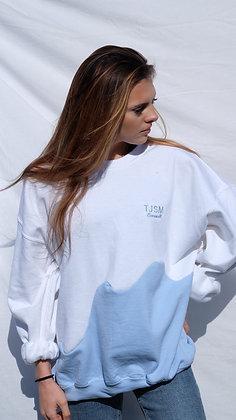 White / Light Blue Unisex Cut & Sew