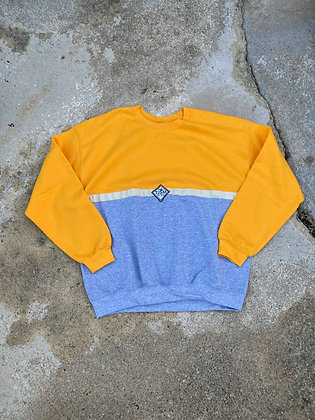 Half and Half Logo Jumper Yellow/Grey