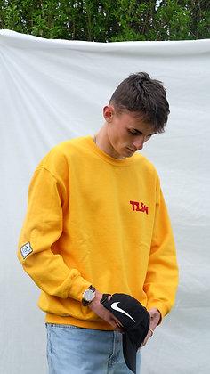 Yellow Creative Fleece Logo Sweatshirt