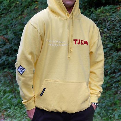 Yellow/Red Logo Hoodie For 2020