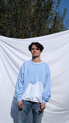 Light Blue / White Unisex Cut & Sew