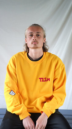 Yellow Creative Fleece Logo Sweatshirt