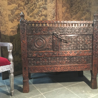 Indian Hand Carved Cabinet