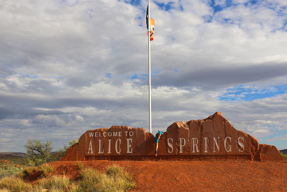 The Welcome to Alice Springs Sign