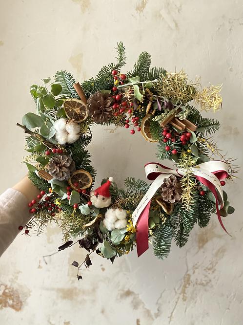 25cm X mas Wreath Classic Style