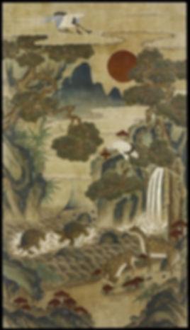 Ten Longevity Symbols. Korean Tapestry. Joseon Dynasty, 1392-1910