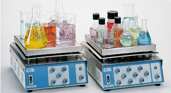 """Multiple position hotplate magnetic stirrers """"Multimatic"""" for 5 or 9 positions"""
