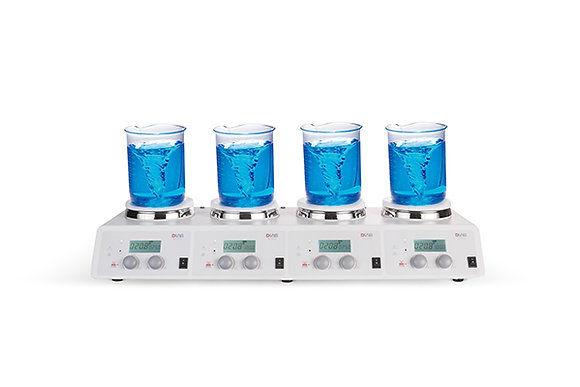 Multiple position hotplate magnetic stirrer MS-H340-S4 for 4X10 liters,