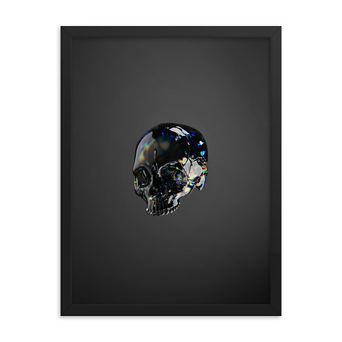 Framed Skull Poster - Black