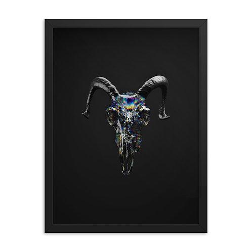 Framed Ramskull Poster - Black