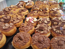 large selection of tasty donuts in norwi