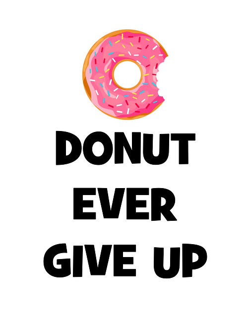 Donuts Prints Quotes Toilet Posters Wall Art Funny Text Fun Quotes