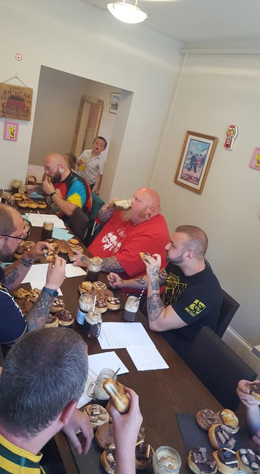 Man v food Donut competition Uk Norwich