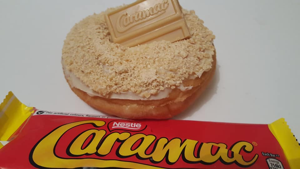 caramac donut at daddy donuts