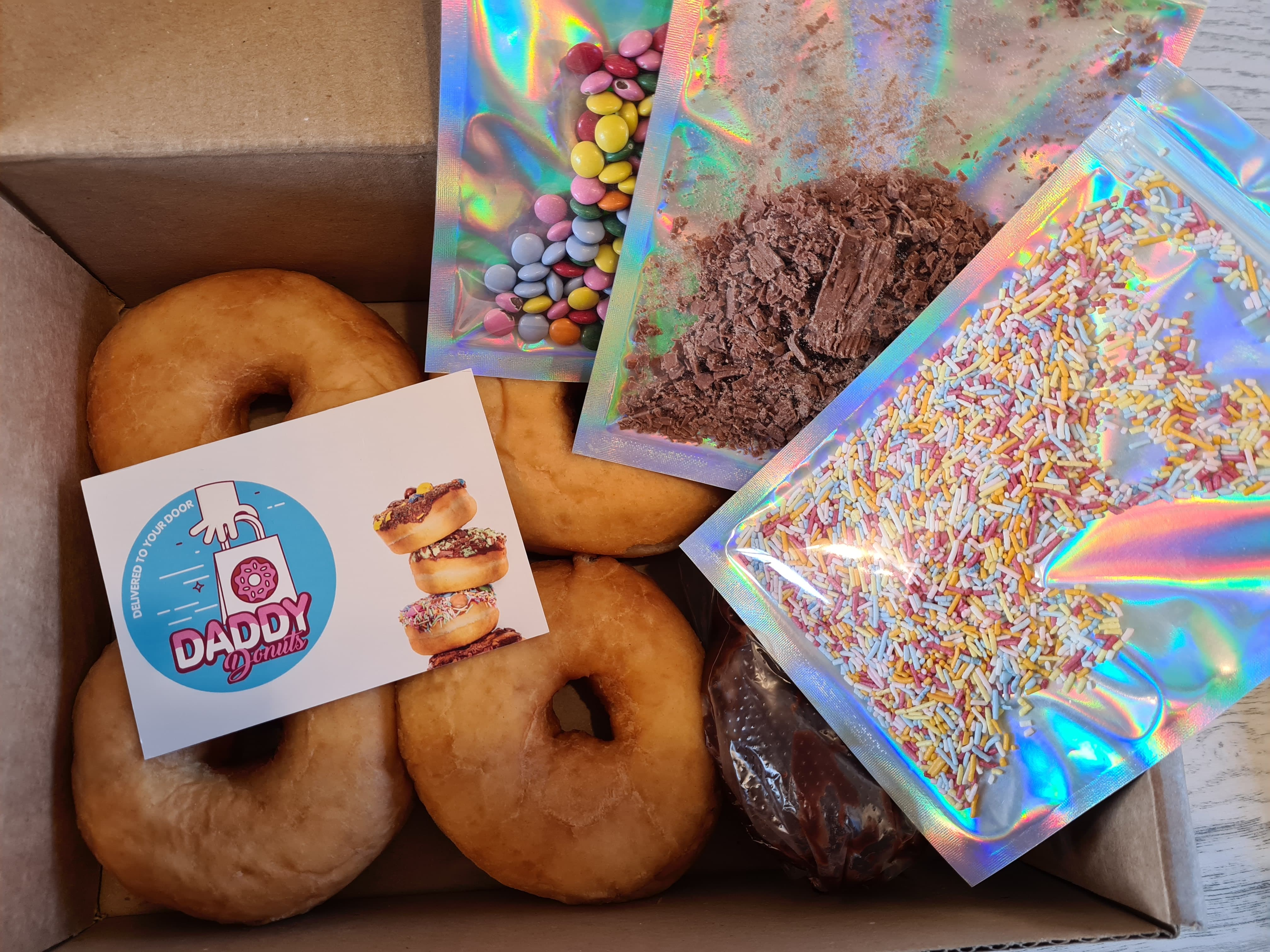 topping and donuts