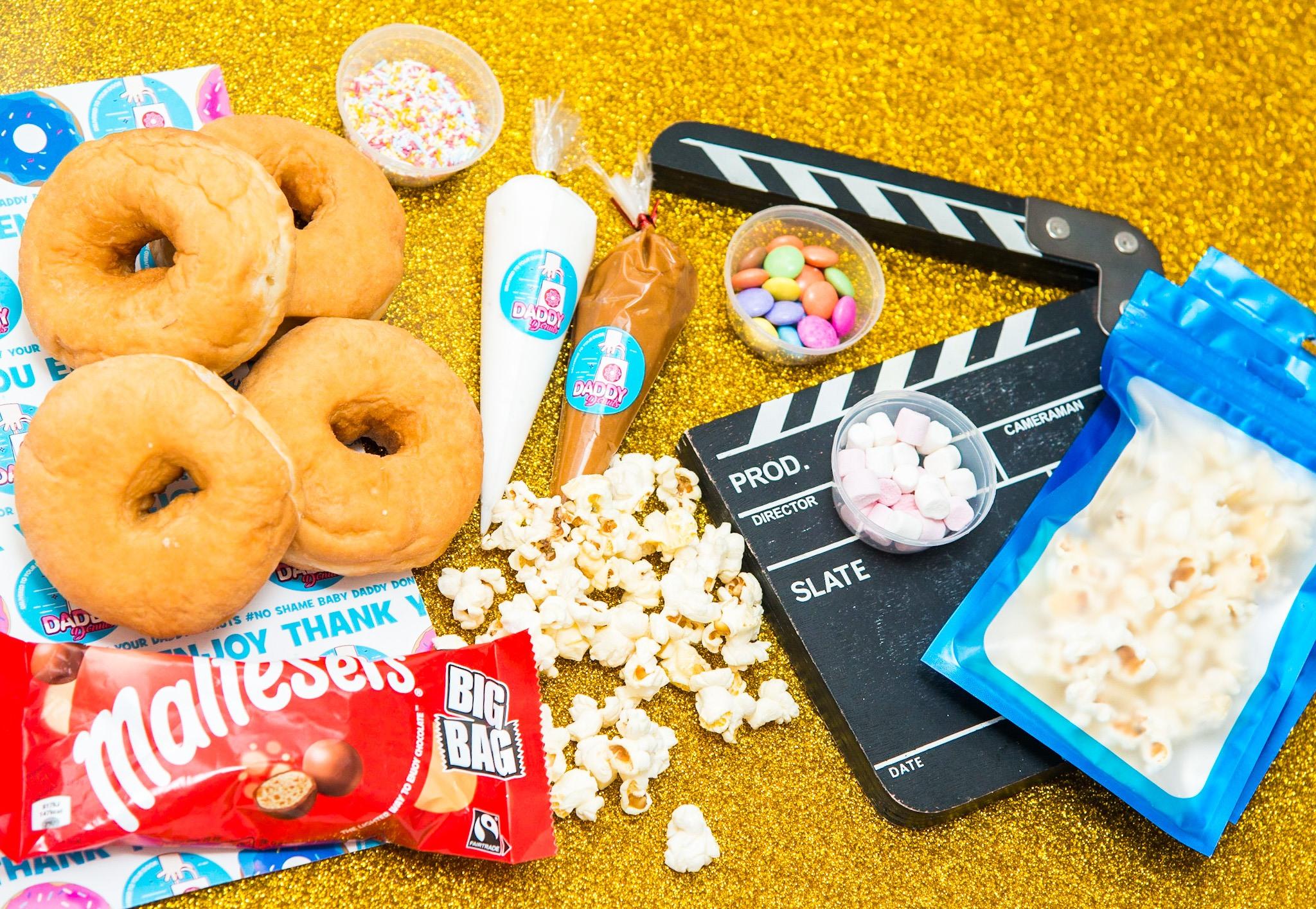 popcorn maltesers diy donut box perfect