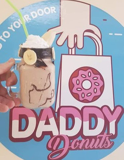 Daddy donuts freakshakes made with real ice cream