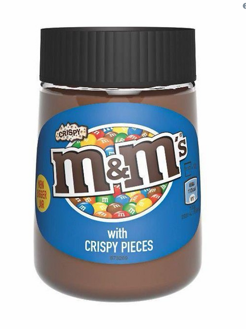 M&M's with crispy pieces spread
