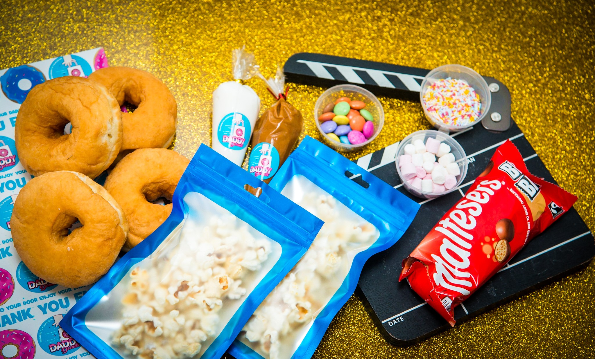 netflix diy donut box from daddy donuts